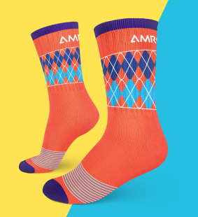 Orange Argyle Socks