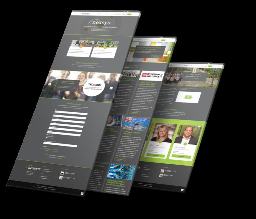 Nexsys Website Screenshots
