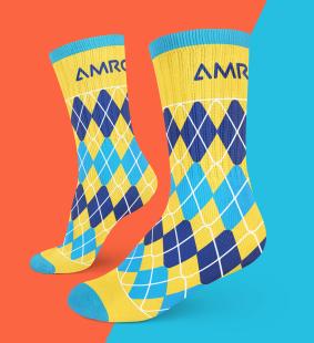 Yellow Argyle Socks